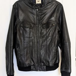 Lee leather jacket bomber Vintage real leather M